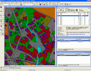 Data VFK načtená do prostředí MicroStation